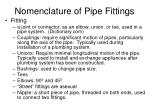 nomenclature of pipe fittings