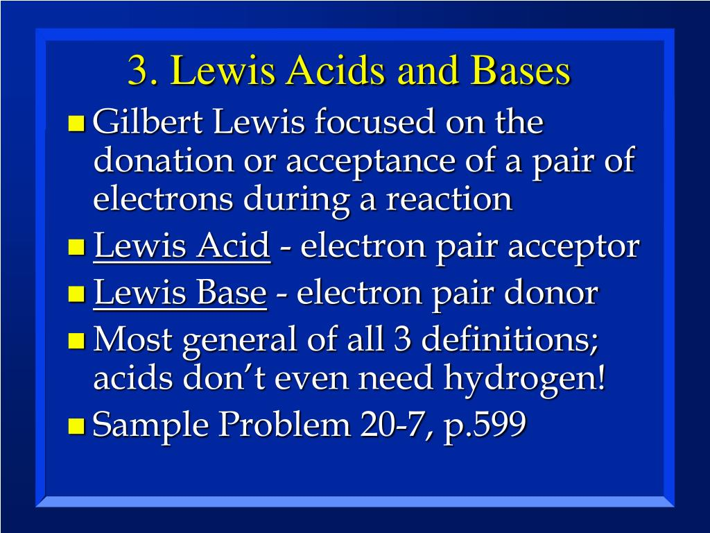 3. Lewis Acids and Bases
