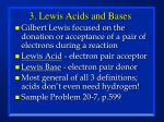 3 lewis acids and bases