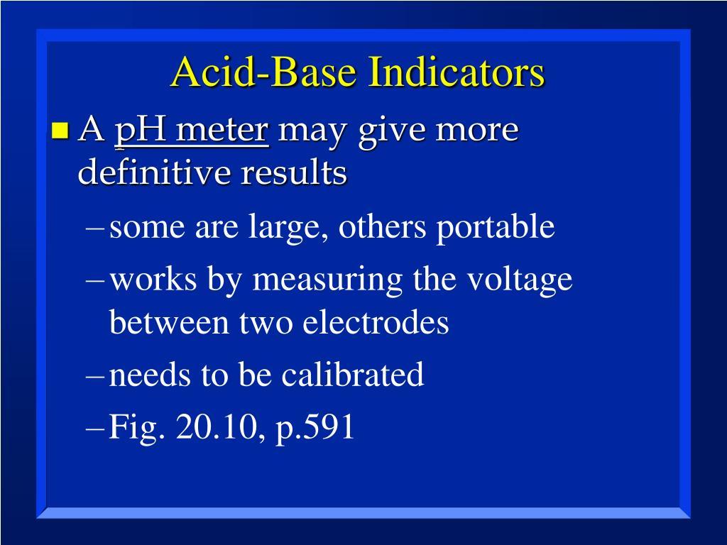 Acid-Base Indicators