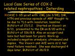 local case series of cox 2 related nephropathies deterding