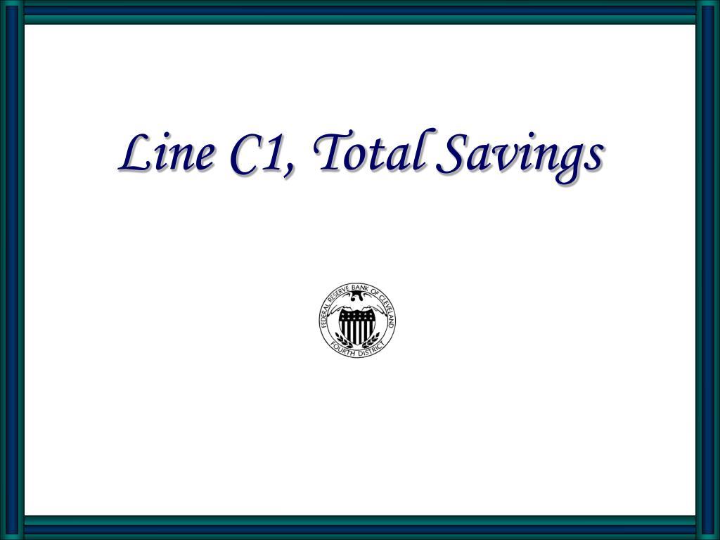 line c1 total savings l.