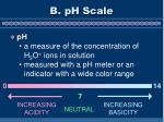 b ph scale
