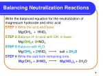 balancing neutralization reactions9