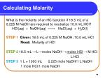 calculating molarity