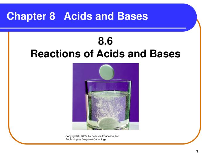 reactions of acids Amino acid reactions salt formation: amino acids react with each other in a typical acid-base neutralization reaction to form a salt the.
