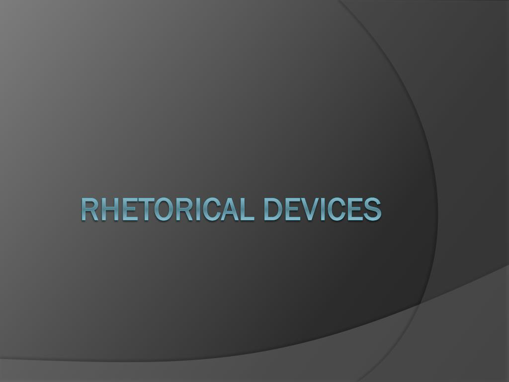 rhetorical devices l.