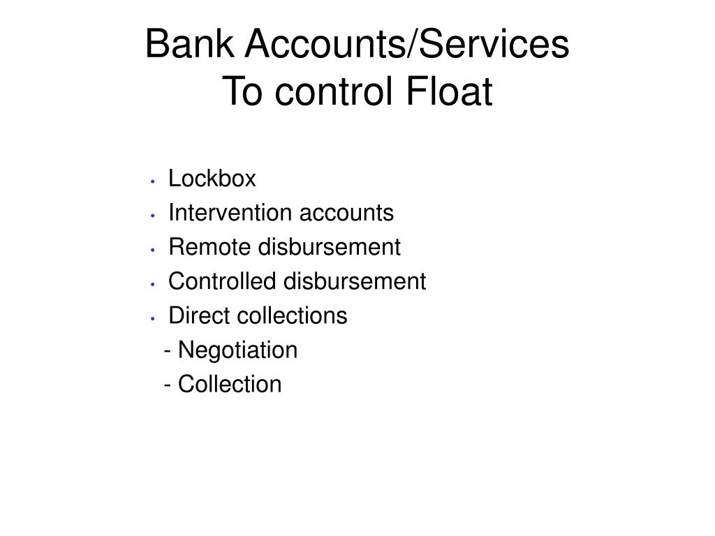 Bank Accounts/Services