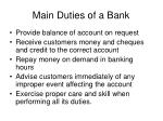 main duties of a bank4