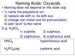 naming acids oxyacids