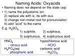 naming acids oxyacids11