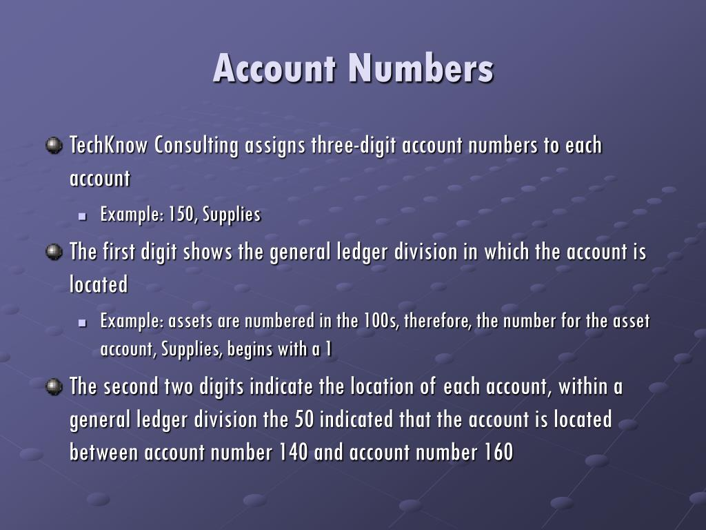 Account Numbers