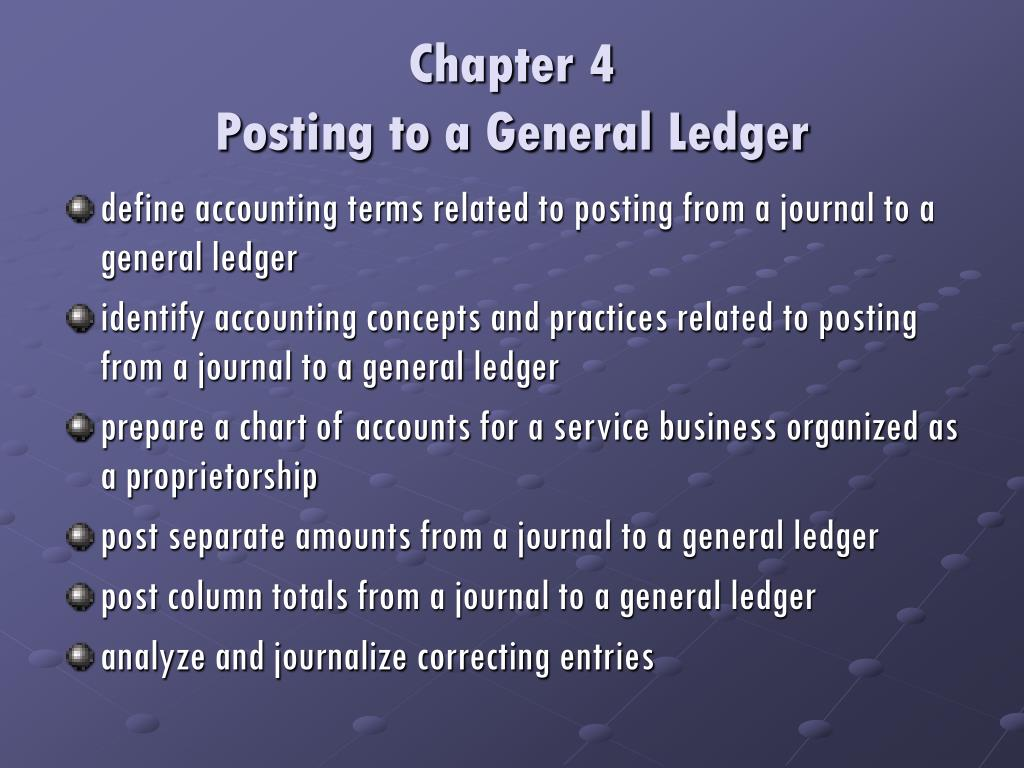 chapter 4 posting to a general ledger l.