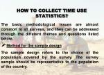 how to collect time use statistics