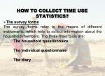how to collect time use statistics18