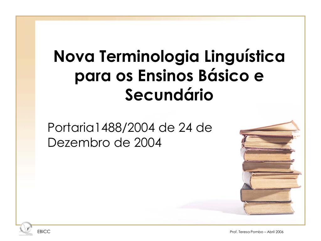 nova terminologia lingu stica para os ensinos b sico e secund rio l.