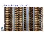 charles babbage 1792 187129