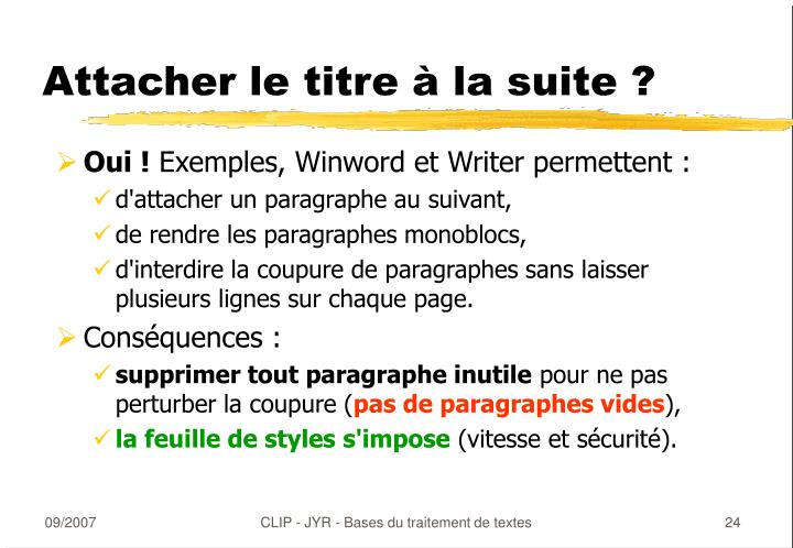 ppt - traitement de texte powerpoint presentation