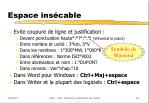 espace ins cable