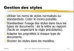 gestion des styles