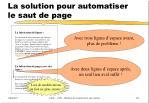 la solution pour automatiser le saut de page