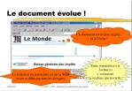le document volue