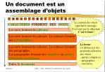 un document est un assemblage d objets