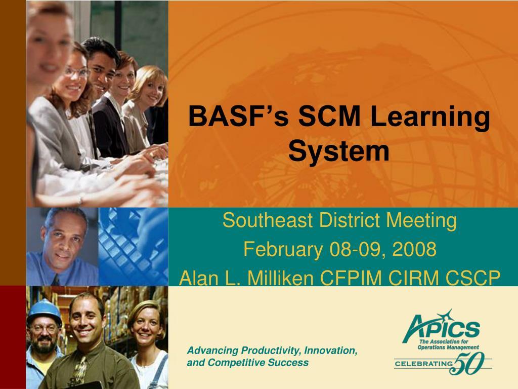 basf s scm learning system l.