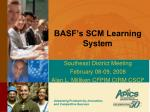 basf s scm learning system