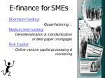 e finance for smes