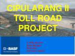 cipularang ii toll road project