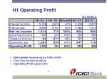 h1 operating profit
