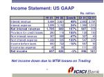 income statement us gaap
