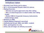 initiatives taken