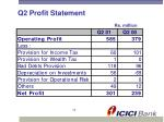 q2 profit statement