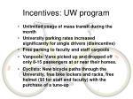 incentives uw program