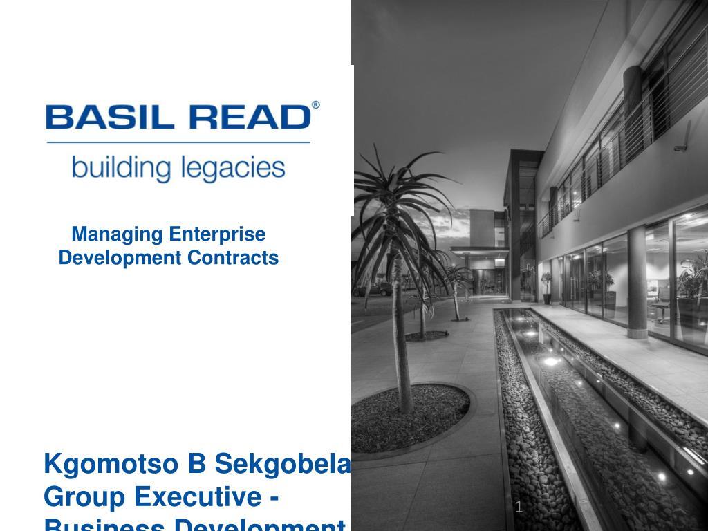 managing enterprise development contracts l.