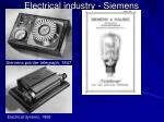 electrical industry siemens