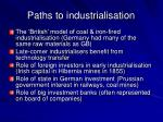 paths to industrialisation