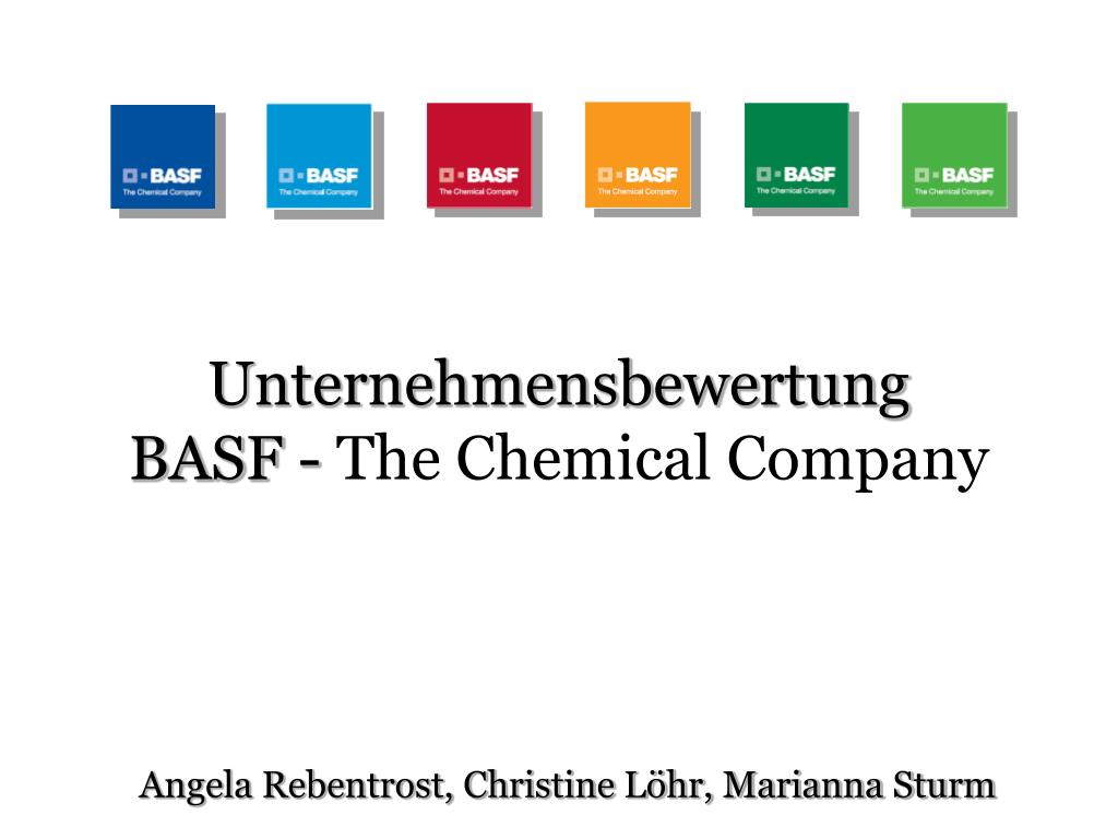 unternehmensbewertung basf the chemical company l.