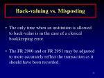 back valuing vs misposting24