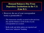 demand balances due from depository institutions in the u s line b 1113