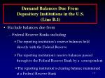demand balances due from depository institutions in the u s line b 1117