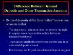 difference between demand deposits and other transaction accounts