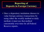 reporting of deposits in foreign currency