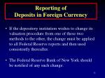 reporting of deposits in foreign currency32