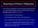 reporting of primary obligations