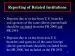 reporting of related institutions