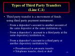types of third party transfers line c 1