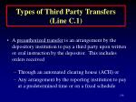types of third party transfers line c 1136